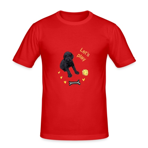 Giant Schnauzer puppy - Men's Slim Fit T-Shirt
