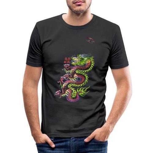 Dragon Randy Design - Männer Slim Fit T-Shirt
