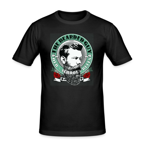 bearded guy color 05 - Camiseta ajustada hombre