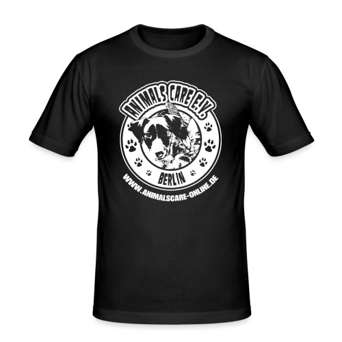 Animals Care Logo - Männer Slim Fit T-Shirt