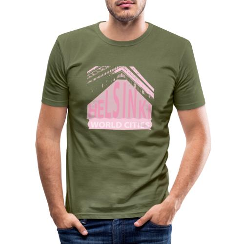 Helsinki light pink - Men's Slim Fit T-Shirt