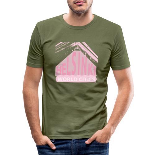 Helsinki light pink - Men's Slim Fit T-Shirt