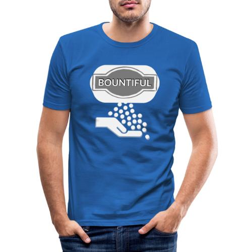 Bontiul gray white - Men's Slim Fit T-Shirt