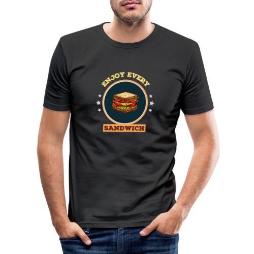 Enjoy every sandwich - Männer Slim Fit T-Shirt