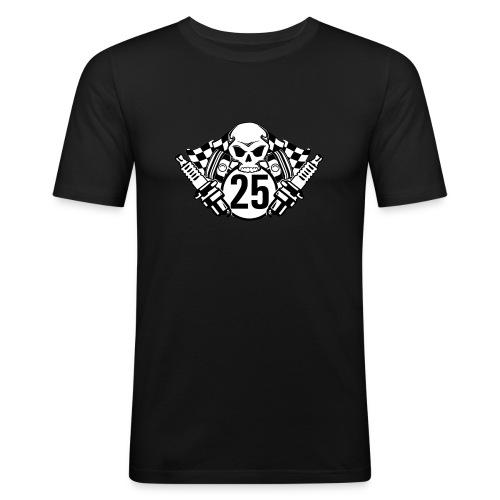 Logo wei schwarz - Männer Slim Fit T-Shirt