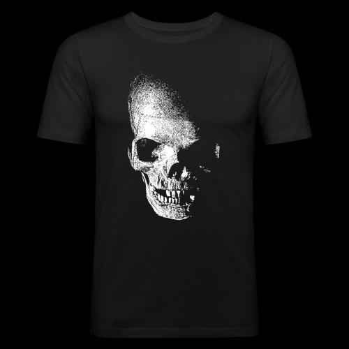 HRR SKULL FRONT & BACK - Men's Slim Fit T-Shirt