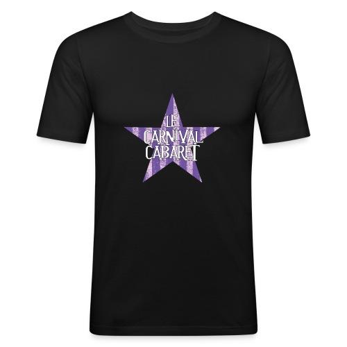 bonnet LCC noir etoie violette - Men's Slim Fit T-Shirt