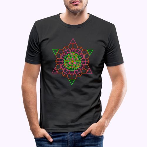Cosmic Crystal Front - Miesten tyköistuva t-paita