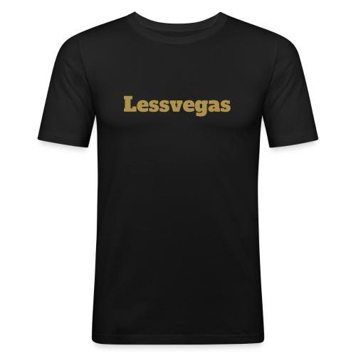 LV Logo Black - Männer Slim Fit T-Shirt