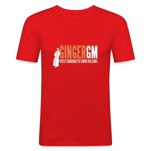Ginger GM White Logo - Men's Slim Fit T-Shirt