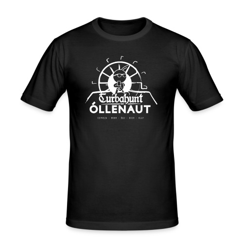 Õllenaut Turbahunt in white - Men's Slim Fit T-Shirt