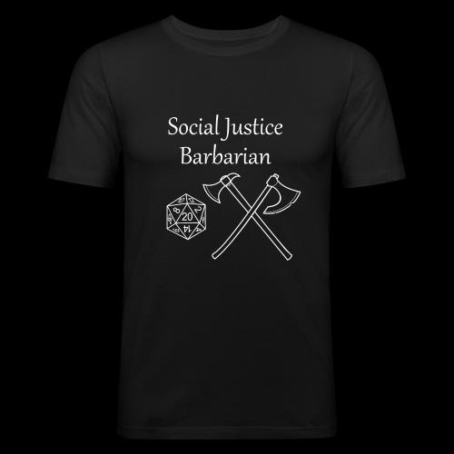 Social Justice Barbarian - Men's Slim Fit T-Shirt