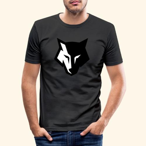 Loup noir et blanc - T-shirt près du corps Homme
