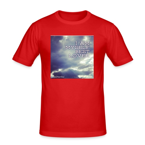 I Am Myself best Lover - Miesten tyköistuva t-paita