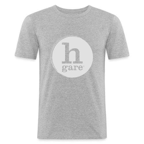 HGARE LOGO TONDO PIENO GIALLO - Maglietta aderente da uomo