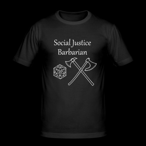 Social Justice Barbarian - Men's Slim Fit T-Shirt
