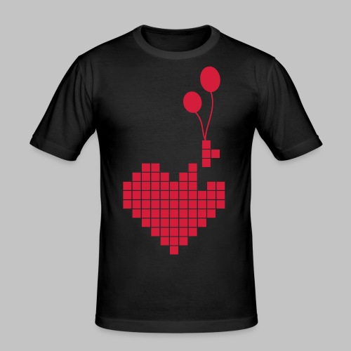 heart and balloons - Men's Slim Fit T-Shirt