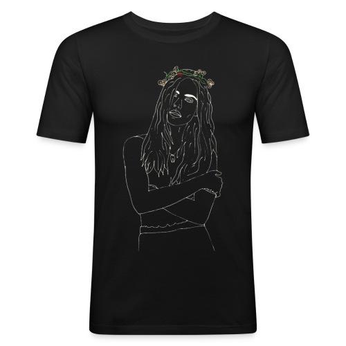 Flower - Men's Slim Fit T-Shirt