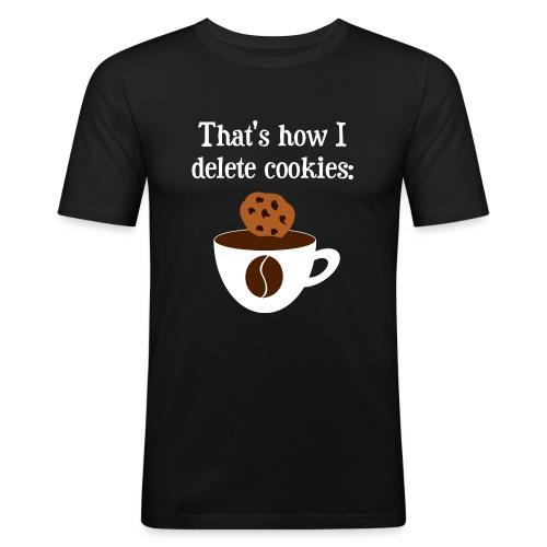 Cookies Kaffee Nerd Geek - Männer Slim Fit T-Shirt