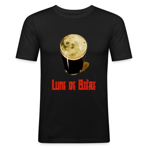 Logo Lune de Bière - T-shirt près du corps Homme