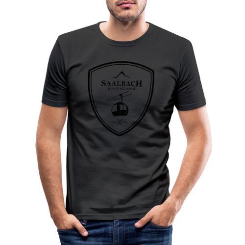 Skilift embleem Saalbach Hinterglemm - Mannen slim fit T-shirt