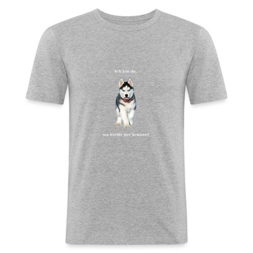 Husky Welpen mit bezaubernden Augen - Männer Slim Fit T-Shirt