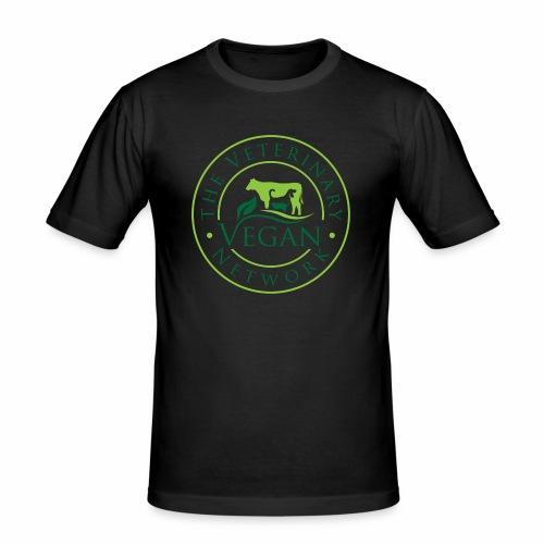 Veterinary Vegan Network Logo - Men's Slim Fit T-Shirt