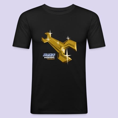 robomaniac_schrottis_schl - Männer Slim Fit T-Shirt
