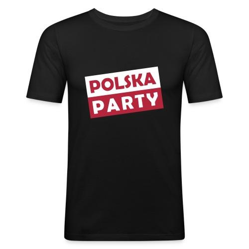 Polska Party / Die Party-Geschenkidee - Männer Slim Fit T-Shirt