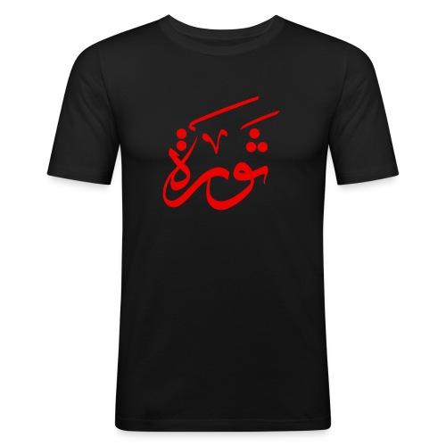 Revolution Red - Männer Slim Fit T-Shirt