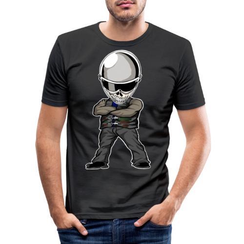 Böser Streetfighter - Männer Slim Fit T-Shirt