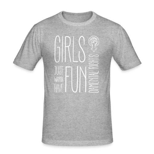 Girls just wanna have fundamental rights - Männer Slim Fit T-Shirt