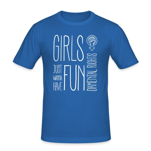 Girls just wanna have fundamental rights - Männer Slim Fit T-Shirt