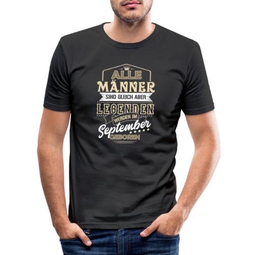 Mann Männer Legende Geburtstag Geschenk September - Männer Slim Fit T-Shirt