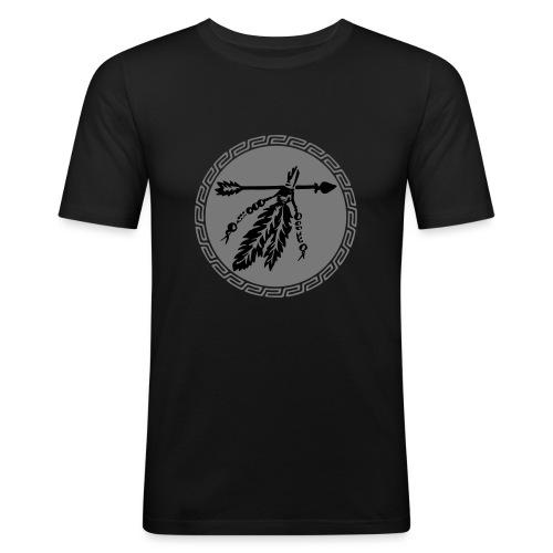 Pfeil mit Federn, Schutz & Kraft Symbol, Indianer - Männer Slim Fit T-Shirt