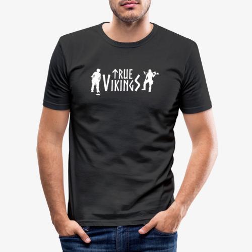 True Vikings Logo 2 - Miesten tyköistuva t-paita