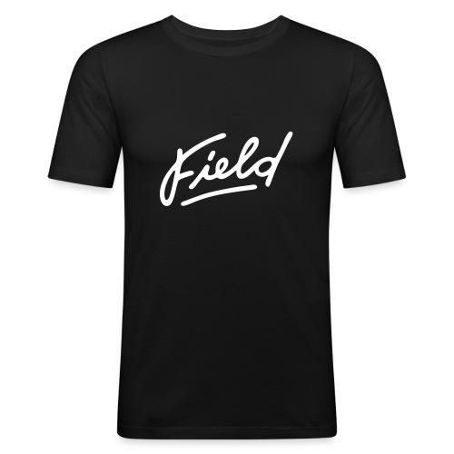 Field Interactive Logo - Männer Slim Fit T-Shirt