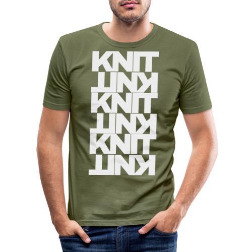 Garter Stitch, light - Men's Slim Fit T-Shirt