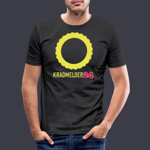 Kradmelder24 mit Reifen - Männer Slim Fit T-Shirt