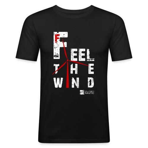 feel the wind_2 - Camiseta ajustada hombre
