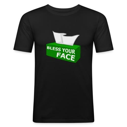 1032197 11741142 blessyourfacecopy orig - Men's Slim Fit T-Shirt