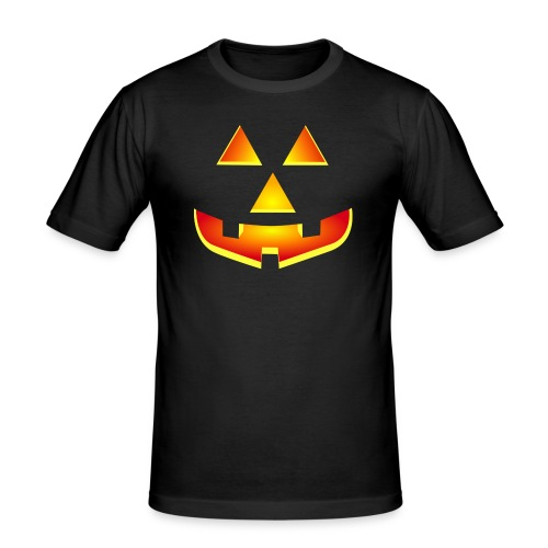 Smiling pumpkin - T Shirt, Halloween, Scary Face - Men's Slim Fit T-Shirt