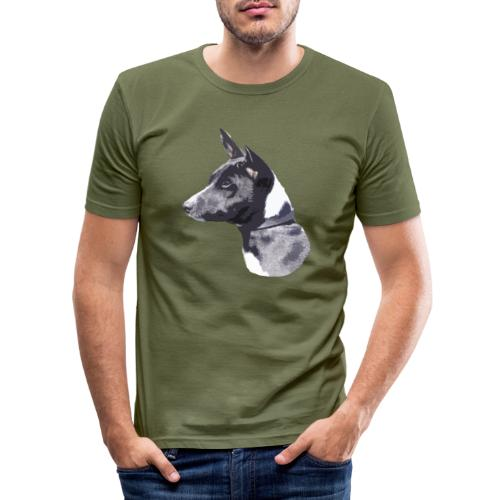 basenji black - Herre Slim Fit T-Shirt