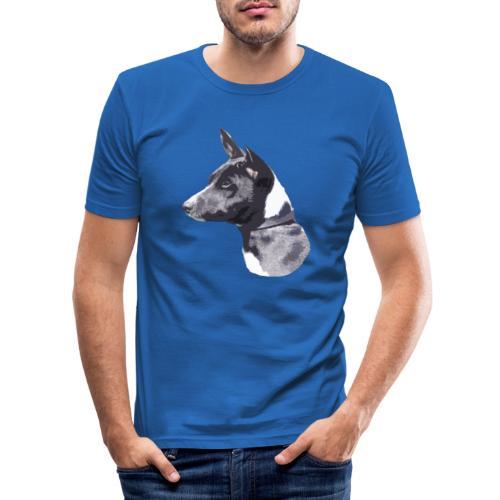 basenji black - Herre Slim Fit T-Shirt