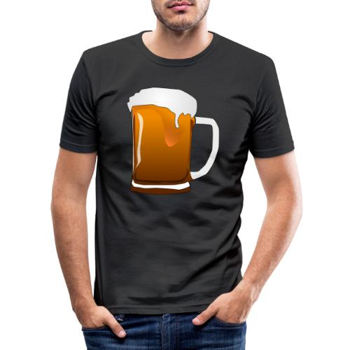 Cartoon Bier Geschenkidee Biermaß - Männer Slim Fit T-Shirt