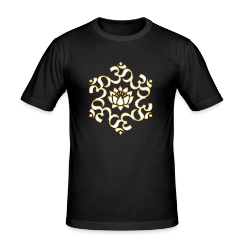 Om Lotus, Buddhismus, Yoga, Meditation, spirituell - Männer Slim Fit T-Shirt
