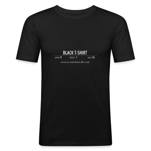 Black T-shirt - Maglietta aderente da uomo