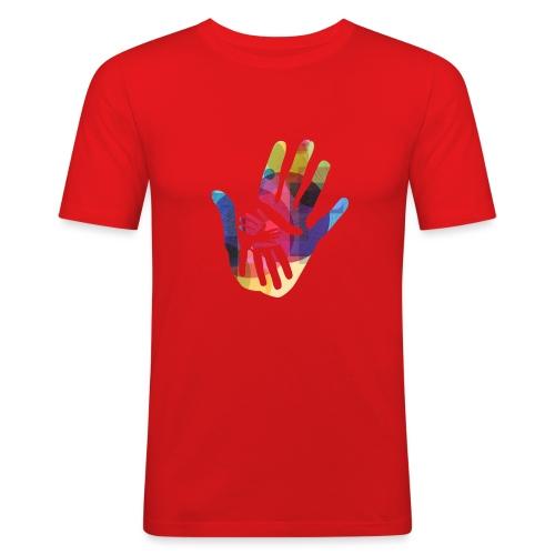 logo_storien - Slim Fit T-skjorte for menn
