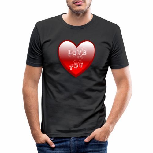 Love You - Männer Slim Fit T-Shirt