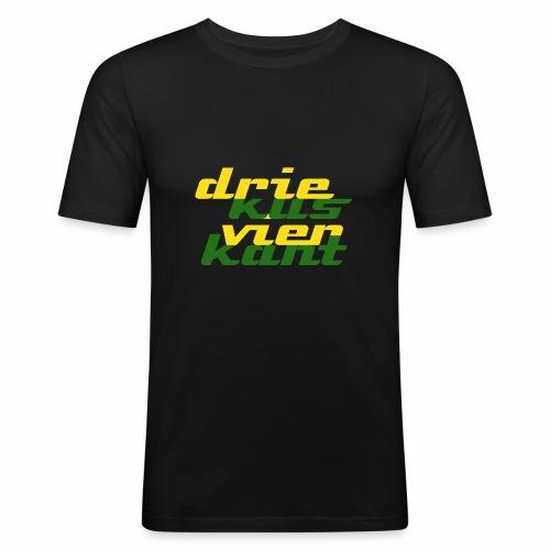 Driekus Vierkant - Mannen slim fit T-shirt